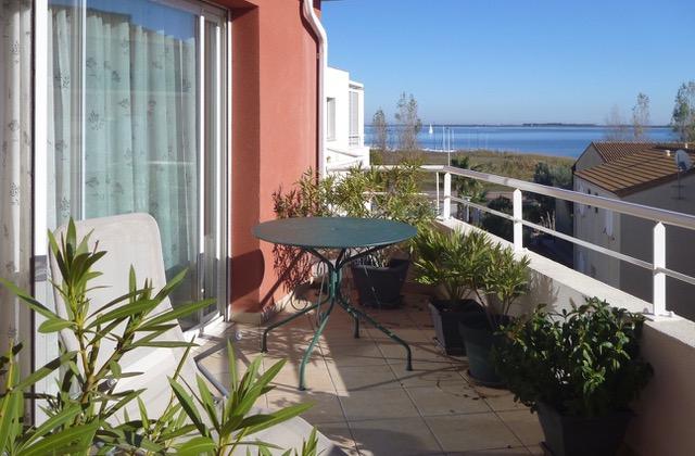 PHOTO1 - Vente appartement à Marseillan avec vue Etang, terrasse et parking
