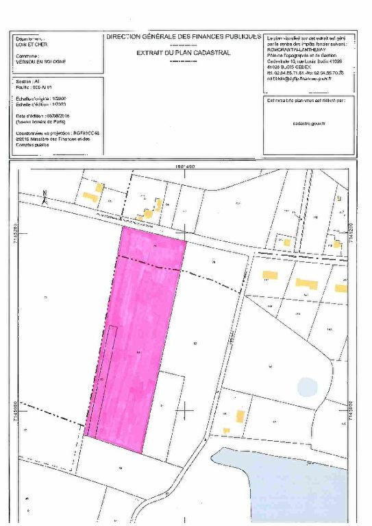 Terrain 16475 m² - VERNOU EN SOLOGNE