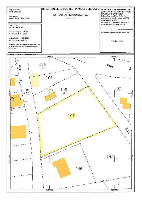 Terrain 1806 m² - SAINT JULIEN SUR CHER
